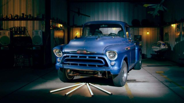 Old blue ford